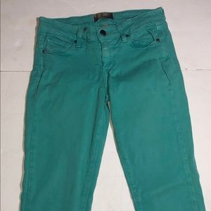 Paige jeans size 26 teal skinnies *Nordstrom brand